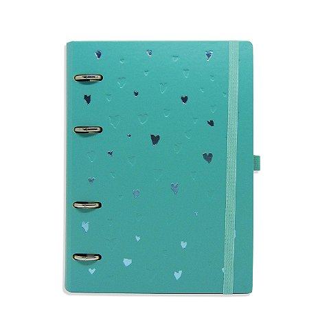 Planner Organizador - Corações Azul