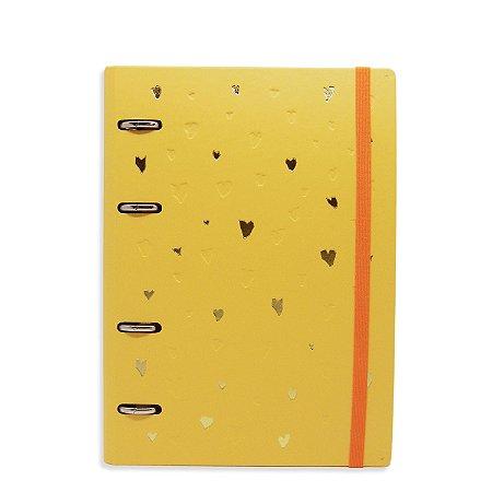 Planner Organizador - Corações Amarelo