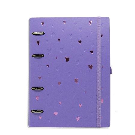 Planner Organizador - Corações Lilás