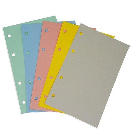 Refil Planner Organizador 125x200mm Colorido