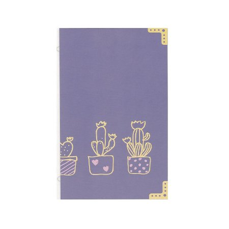Refil Planner Organizador 125x200mm Caderno Avulso Cactos