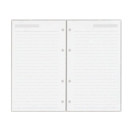 Refil Planner Organizador 125x200mm Pautado Cinza