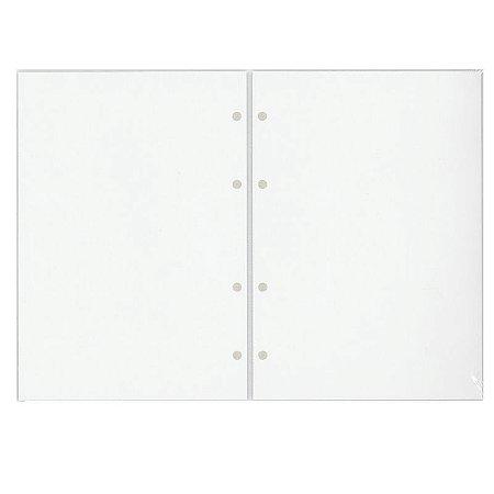 Refil Planner Organizador 167x240mm Em Branco Gold