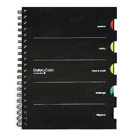 Caderno Color com 5 Matérias Preto