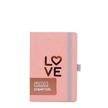 Caderninho Papertalk Love Rosa