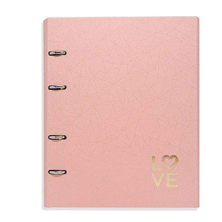 Caderno Fichário Love Rosa