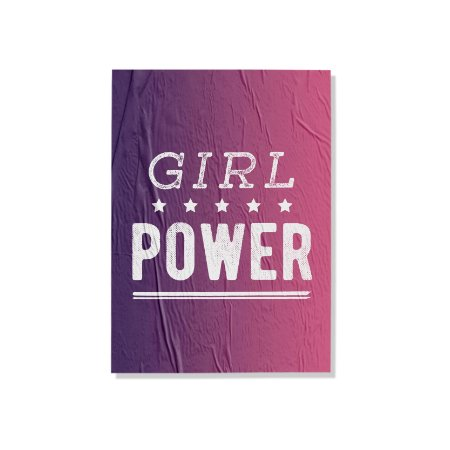 Placa Girl Power