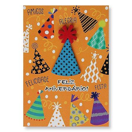 Cartão Aniversário Chapéus Pequeno