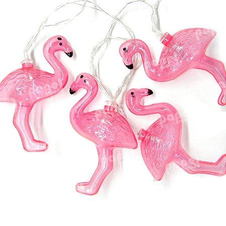 Varal de Luz Flamingos