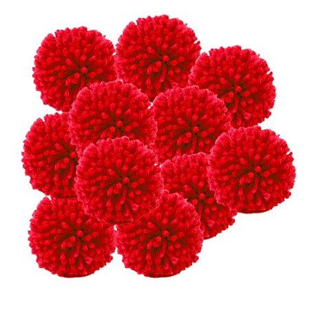 Pacote Pompom de Lã Vermelho