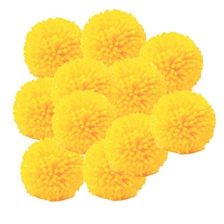 Pacote Pompom de Lã Amarelo