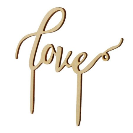 Topper para Bolo em MDF Love