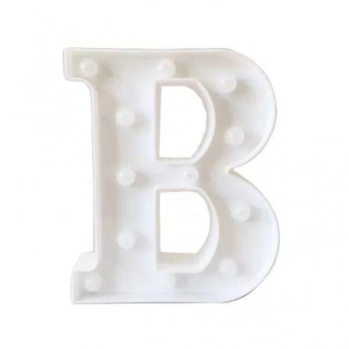 Luminária Letra B