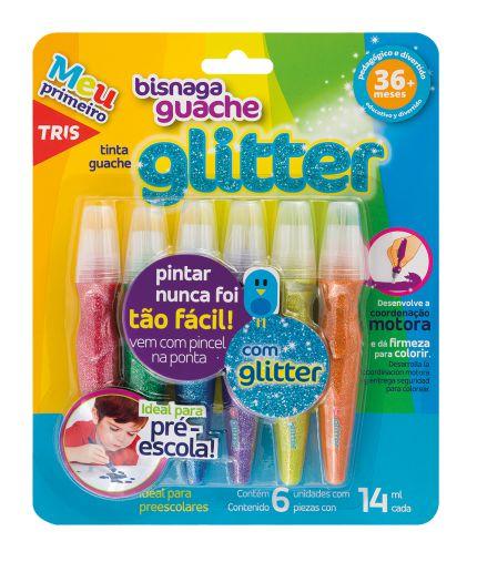 Bisnaga Guache com Glitter