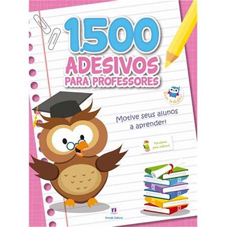 Caderno com 1500 Adesivos Para Professor Rosa