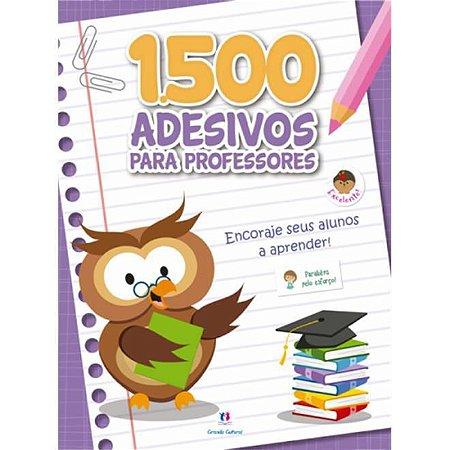 Caderno com 1500 Adesivos Para Professor Roxo