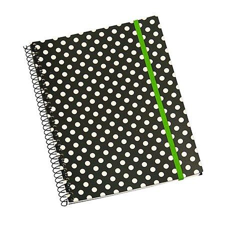 Caderno Universitário 192 Folhas Poá Preto
