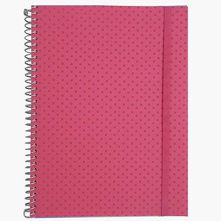 Caderno Universitário 96 Folhas Poá Rosa