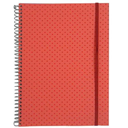 Caderno Universitário 96 Folhas Poá Salmão