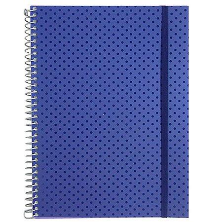 Caderno Universitário 96 Folhas Poá Azul Marinho