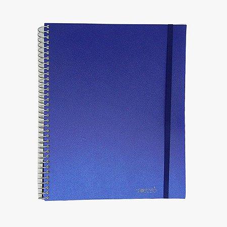 Caderno Universitário sem Pauta Azul Marinho