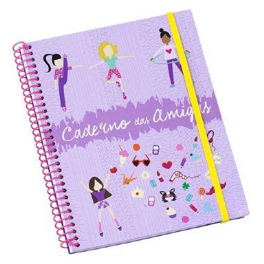Caderno Amigas 96 Folhas Lilás