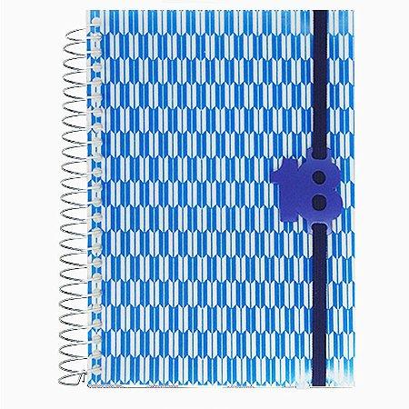 Agenda 2018 Geométrica Retângulo Azul