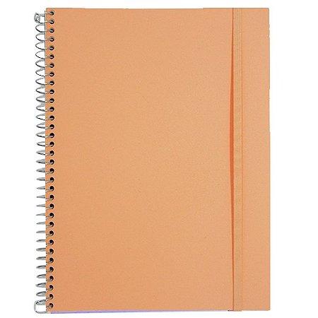 Caderno Universitário 96 Folhas Laranja Pastel