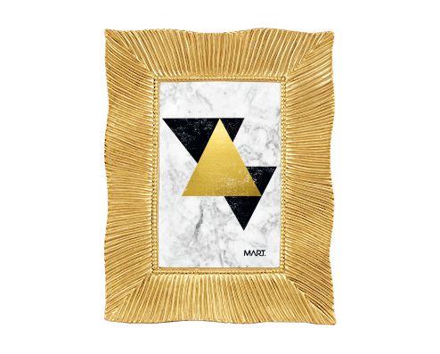 Porta Retrato Chic Dourado Folhas