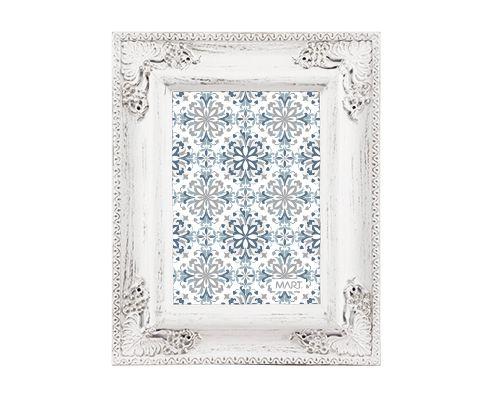 Porta Retrato Branco e Cinza 13x18cm