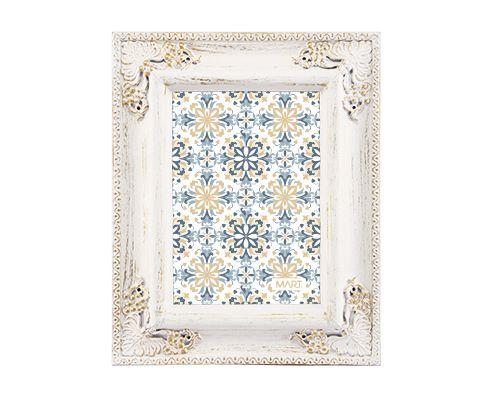 Porta Retrato Branco e Dourado13x18cm