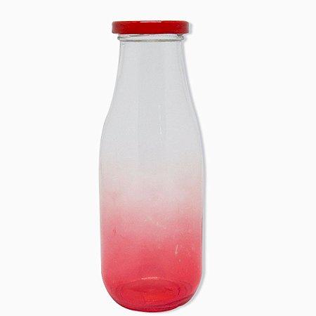 Garrafinha de Vidro 400ml Vermelha