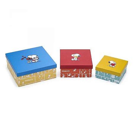 87d0d5f79b8 Caixa Snoopy M - Papel Picado - Papelaria
