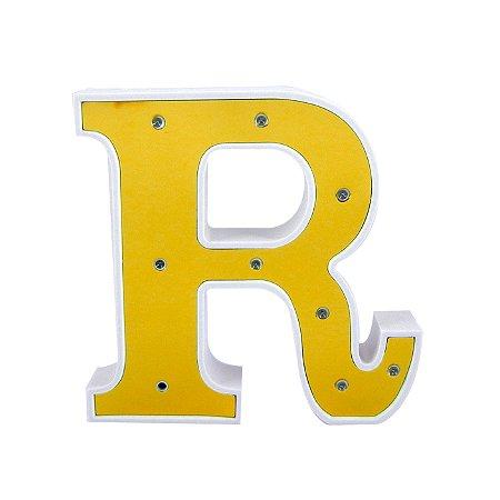 Luminária Letra R Dourada