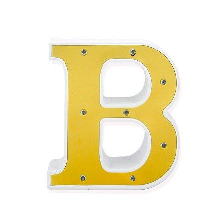 Luminária Letra B Dourada