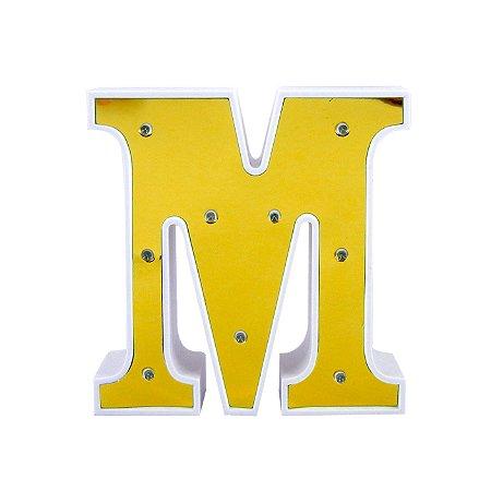 Luminária Letra M Dourada