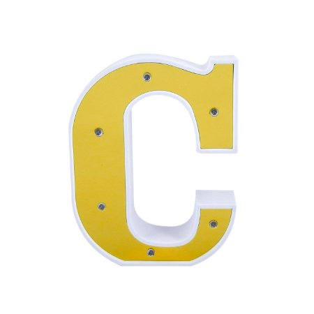 Luminária Letra C Dourada