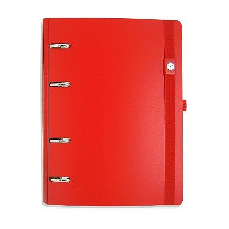Planner Organizador Eco-Couro Vermelho