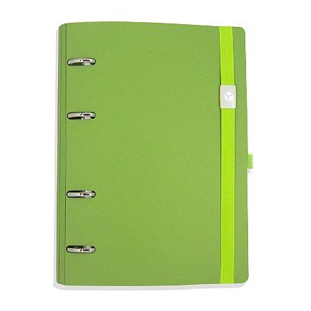 Planner Organizador Eco-Couro Verde Limão