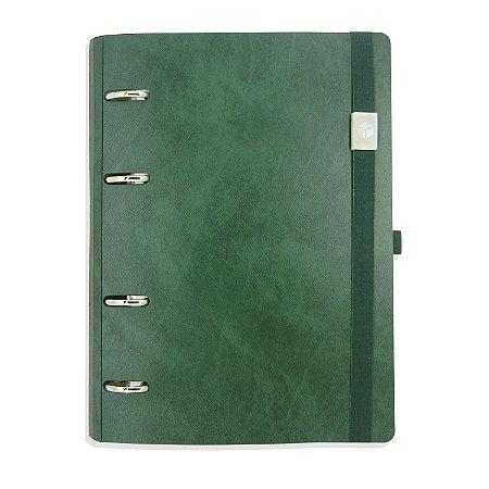 Planner Organizador Eco-Couro Antique Verde