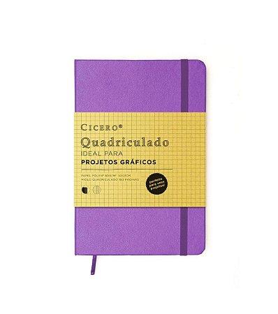 Caderneta Quadriculada Roxa