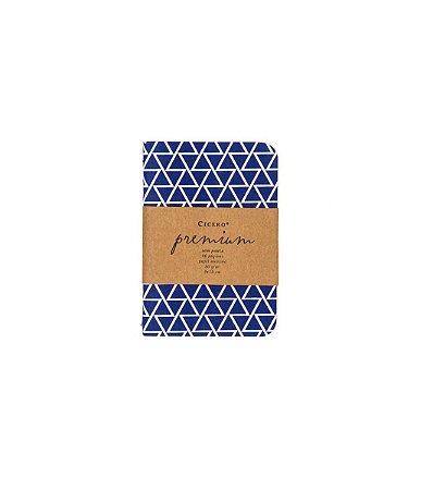 Caderneta Premium Azul 9x13