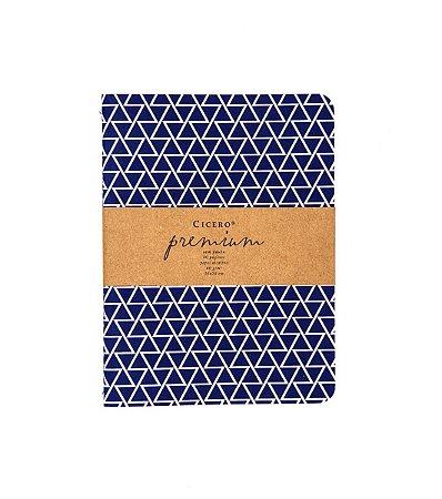 Caderneta Premium Azul 15x20cm