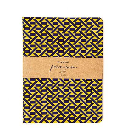 Caderneta Premium Laranja 19x25cm