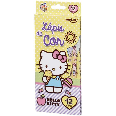 Lápis de Cor 12 Cores Hello Kitty Amarelo