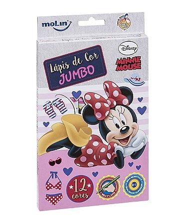 Lápis de cor Jumbo 12 cores Minnie Mouse