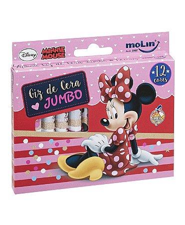 Giz de Cera Jumbo 12 Cores Minnie Mouse