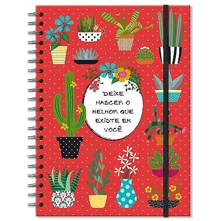 Caderno Estampado Cactos 100 folhas