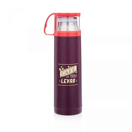 Garrafa Térmica com Xícara - Café Para Levar