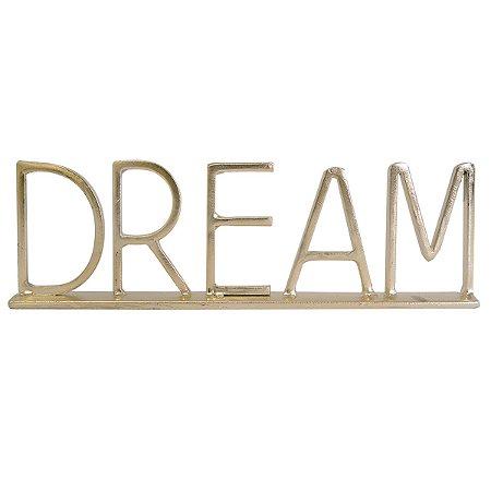 Enfeite Dream Metal Dourado